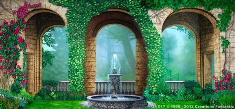 green screen rental atlanta backdrop gs 017 courtyard garden gardens