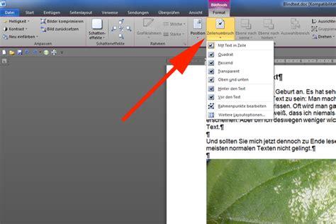 Word Lebenslauf Bild Neben Text Text Neben Bild In Word 2010 Grafikeinstellungen