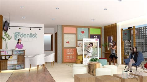 design interior klinik ruang tunggu klinik gigi lung interiordesign id