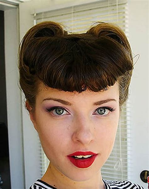 50s victoryrolls hairstyle the trends in s