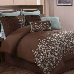 blue and brown bedding for the home