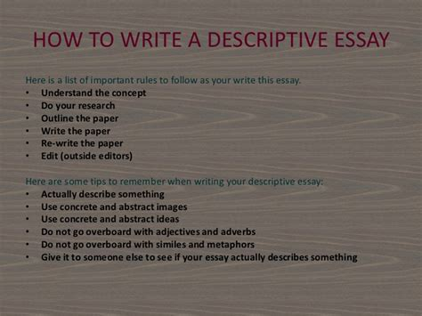 How To Start A Descriptive Essay by Start Essay Describing Someone
