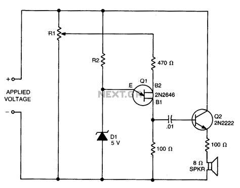 non contact voltage detector circuit diagram voltage detector circuit schematic high dc voltage