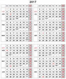 Week Wise Calendar 2018 Weekly Number Calendar 2017 Weekly Calendar Template