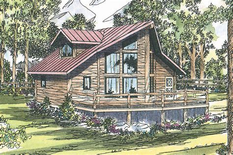 Frame House Plans by Sylvan 30 023 A Frame House Plans Cabin Vacation