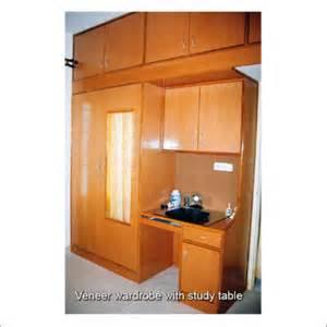 veneer wardrobe with study table