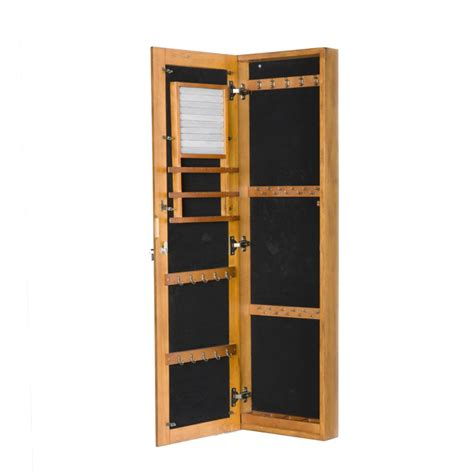 oak mirror jewelry armoire amazon com sei wall mount jewelry armoire with mirror