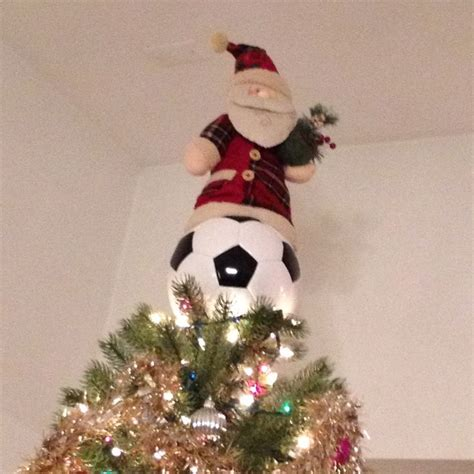 my new homemade christmas tree topper made with an