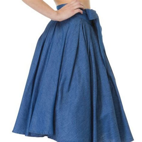 gracia new in time for summer denim flare skirt from