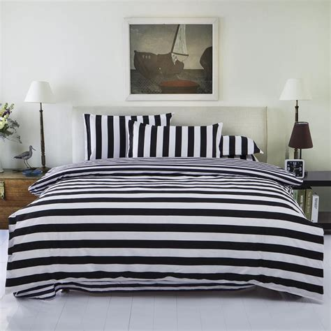 striped bedding black and white stripe from sininlinen black white striped bedding sets 3pcs or 4pcs bed set