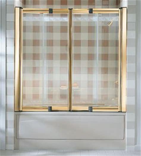 Barrier Free Shower Doors Kohler K 704010 Lw Helios Tm Barrier Free 4 Panel Bath And Shower Door 48 60 Quot X 55 Quot Clear Glass
