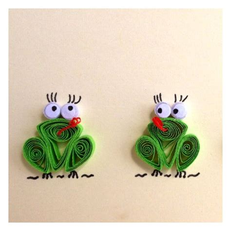 How To Make A 3d Frog Out Of Paper - 546 best images about quilling animals on