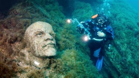 how did atlantis sink real life soviet atlantis underwater museum in ukraine
