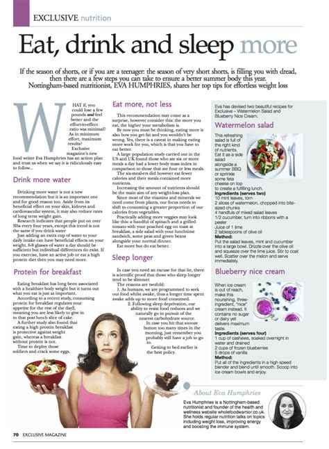 7 Magazine Articles You To Read by Exclusive Magazine Article Wholefood Warrior
