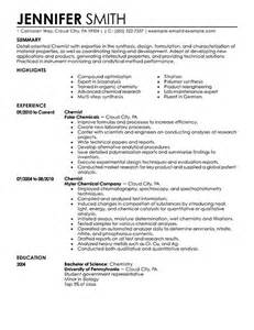 Curriculum Vitae Biology by Analytical Chemist Resume Example Analytical Chemist