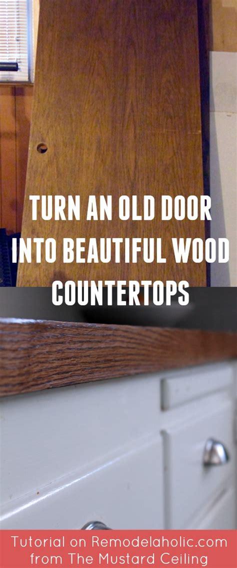 diy wood door countertops 100 wooden countertops tutorial remodelaholic