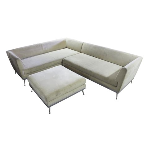 sofa and footstool modern corner sofa and footstool ligne roset france