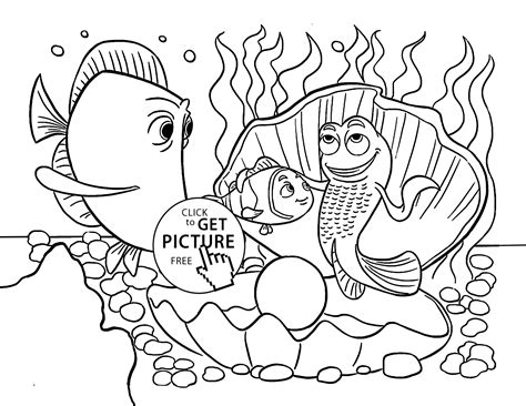Coloring Pages Fish Nemo by Nemo Fish Coloring Page For Animal Coloring Pages