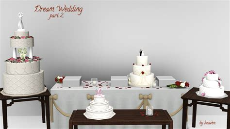 Mod The Sims   Dream Wedding   Cakes