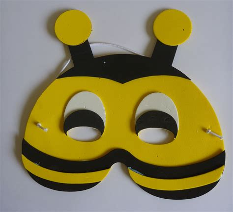 printable bee mask template craft diary 5th may 2013 bees and ladybirds little
