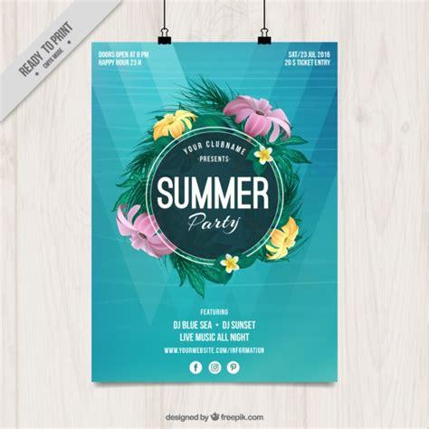 Plakat Quellenangaben by Sommerfest Plakat Mit Blumen Der Kostenlosen Vektor