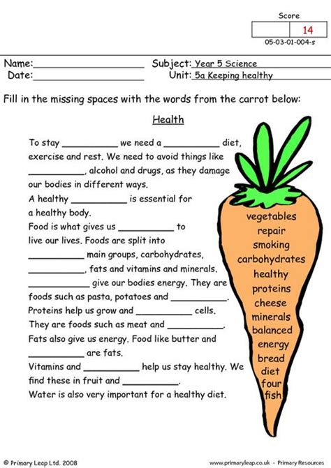 worksheet 6th grade health worksheets hunterhq free