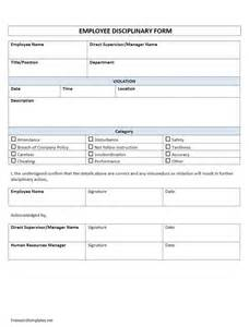 employee disciplinary form freewordtemplates net