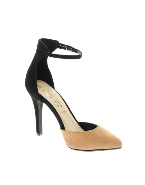 rage high heels seafolly rage black camel heeled shoes in beige
