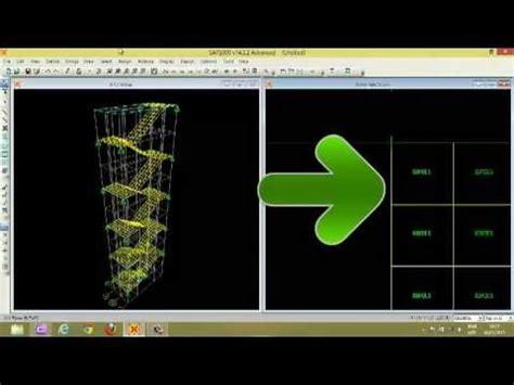 tutorial sap 2000 untuk pemula tutorial sap 2000 part 4 tangga youtube