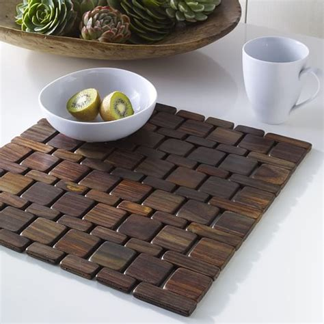 Dining Room Set Clearance wood tile placemat set west elm