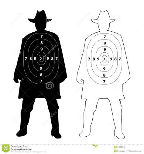 Printable Cowboy Targets | cowboy gun target on white stock vector image 41553524