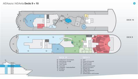 aidaprima deckplan 9 aidaaura schiffe und kreuzfahrten