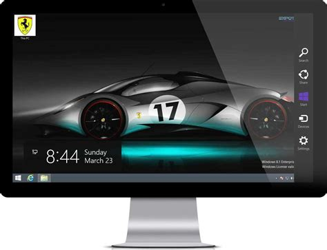 themes new car ferrari car theme for windows 7 and windows 8