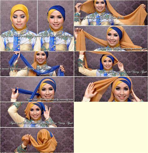 tutorial jilbab tumpuk 28 foto tutorial jilbab wisuda dua warna tahun ini tren