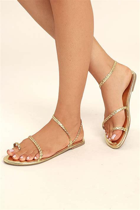 Ft Sintesis Flatshoes boho sandals gold sandals flat sandals toe loop sandals 17 00