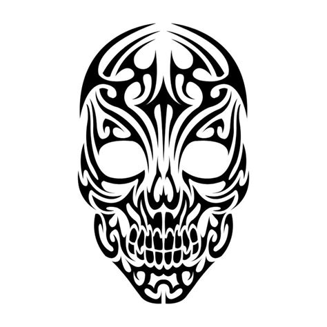 collection of 25 celtic mask tattoo stencil