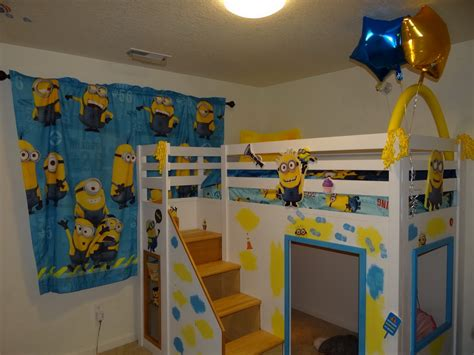 minion toddler bedding ana white despicable me minion theme playhouse loft bed diy projects