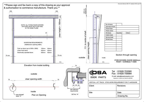 Overhead Door Parts List Drawings For Sectional Overhead Doors 187 Osa Door Parts Limited