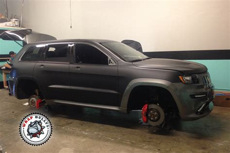 jeep black matte jeep srt8 wrapped in 3m deep matte black vehicle wrap
