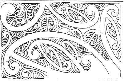 sketch new pattern drawn pattern maori pencil and in color drawn pattern maori