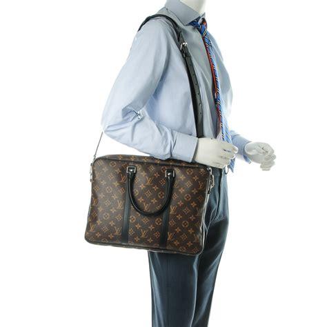 Louis Vuitton Porte Documents Voyage louis vuitton monogram macassar porte documents voyage pm