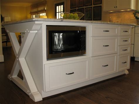 microwave in island in kitchen kitchen island microwave design ideas