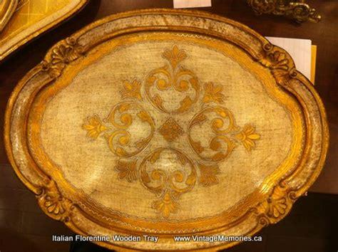vintage memories italian florentine wooden tray