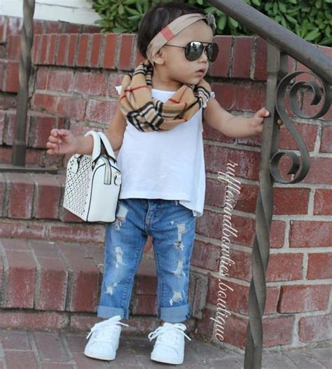 baby girl toddler distressed pearl boyfriend style blue jeans