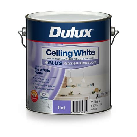 dulux bathroom paint price dulux 2l ceiling white plus kitchen and bathroom paint