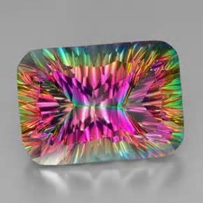 colored gemstones 39 carat top rainbow mystic quartz gem from brazil