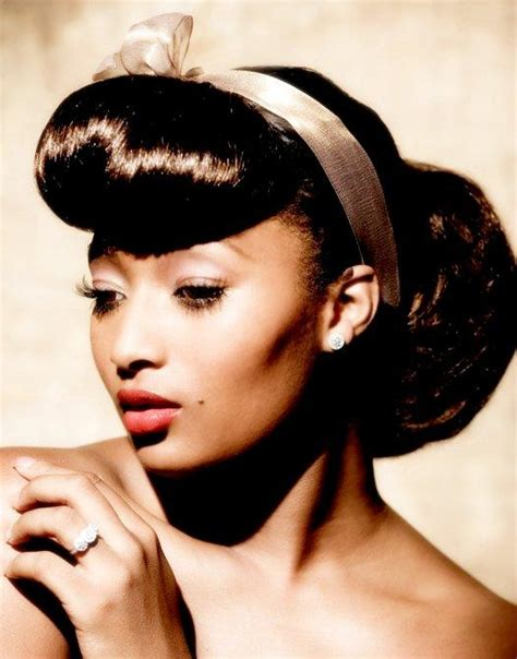 1950 bun hairstyle for black women we have a big era hair a look at the 1950 s beaut