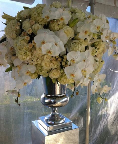 large centerpieces large centerpiece with silver urn weddings