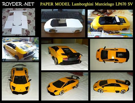 How To Make A Paper Lamborghini - paper lamborghini murcielago by reventton on deviantart