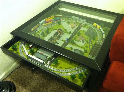 z line designs massadona coffee table ikea table hacked to include train set geek com